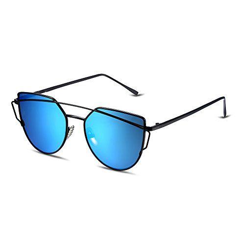 awesome NYKKOLA ojo de gato gafas de sol Classic funda twin-beams color espejo Lentes Gafas Gafas UV400