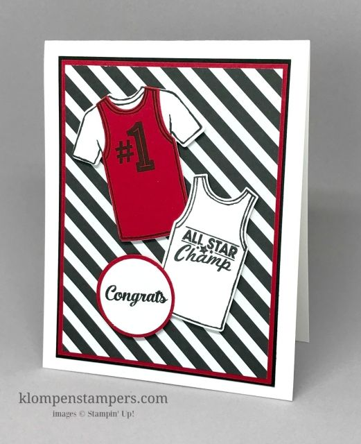 Custom Tee stamp set and framelits is perfect for all occasion cards for the special men in your life! Make all different quick and easy cards with it. Great for young or old! By Jackie Bolhuis