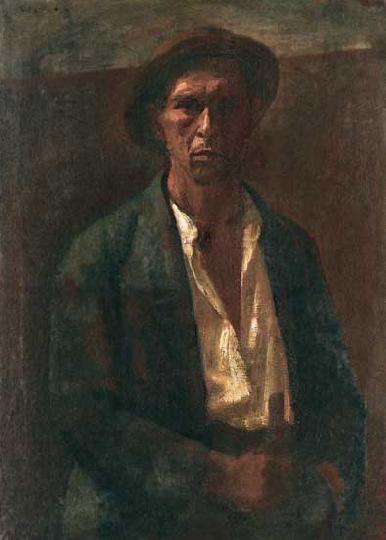 Czigány Dezső (1883-1938)  Önarckép  Olaj, vászon, 92x67 cm