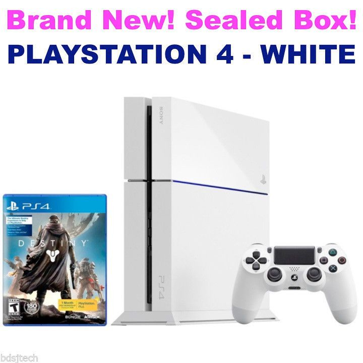 NEW Sony PlayStation 4 500GB - WHITE - Glacier Destiny Edition PS4 Console #Sony