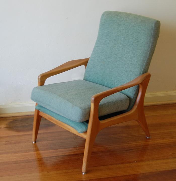 Vintage FLER Chair 50s 60s 70s Australian Retro Armchair