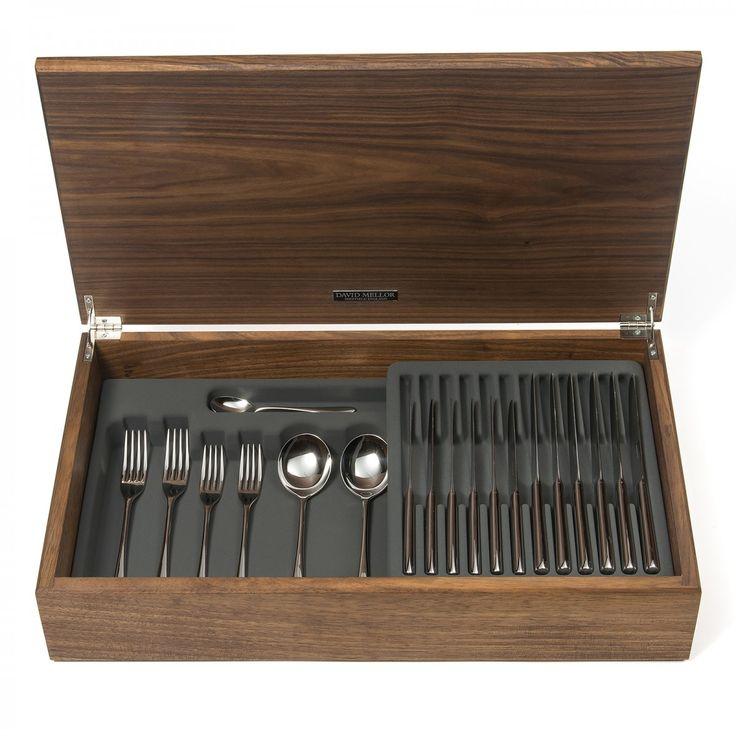 Canteen Box for Pride Cutlery, Walnut - David Mellor Design #davidmellor #flatware #cutlery #tabletop #tableware