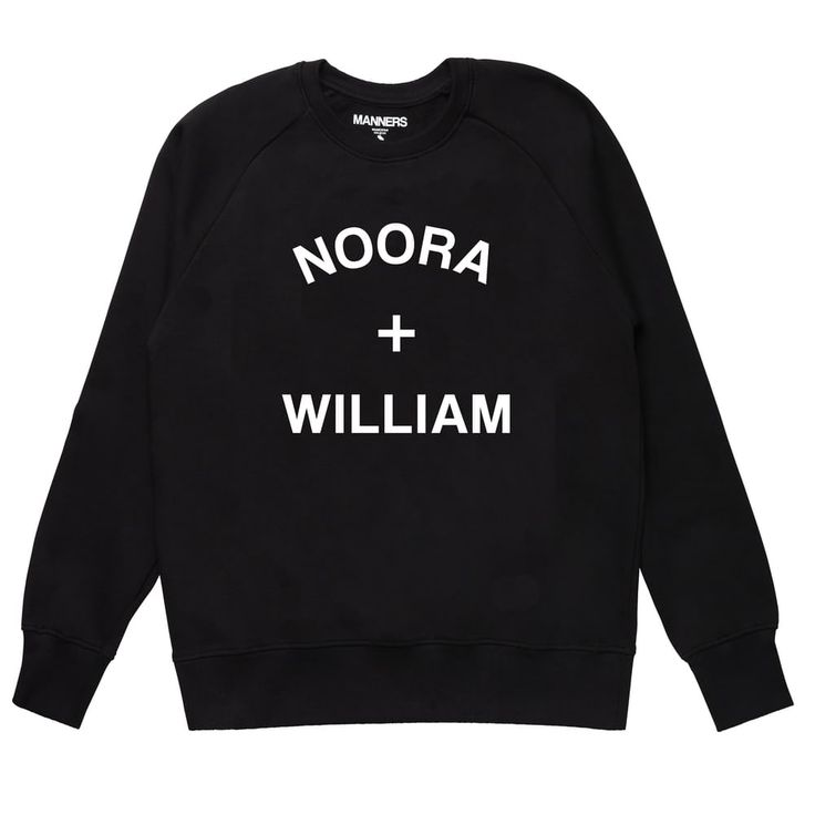 NOORA + WILLIAM sweat black via MANNERS Apparel. Click on the image to see more!