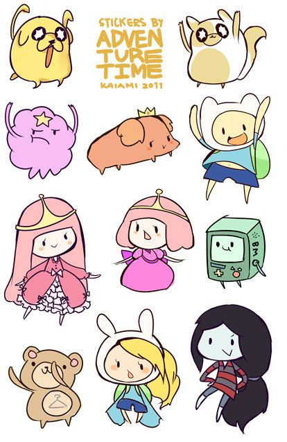 Adventure Time Sticker Sheet from Kaiami on Storenvy