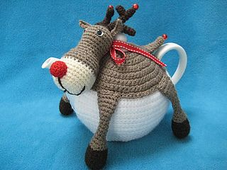 Teacosy Rudolph the red nosed reindeer Tea Cozy Cosy Christmas Festive