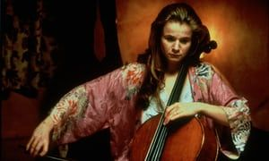 Emily Watson playing the cello looking sad in Hilary & Jackie 1998