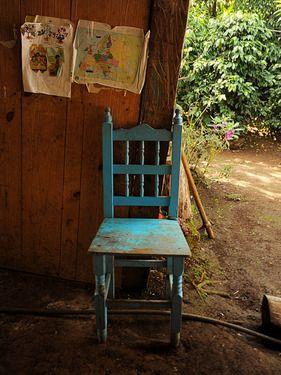 "Saatchi Online Artist Pedro Gutiérrez; Photography, ""Blue chair and maps"" #art"