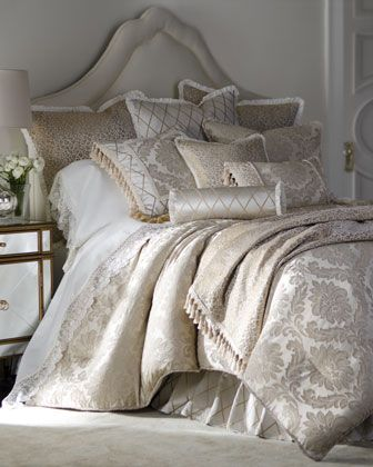 """Darby"" Bed Linens by Isabella Collection by Kathy Fielder at Horchow."