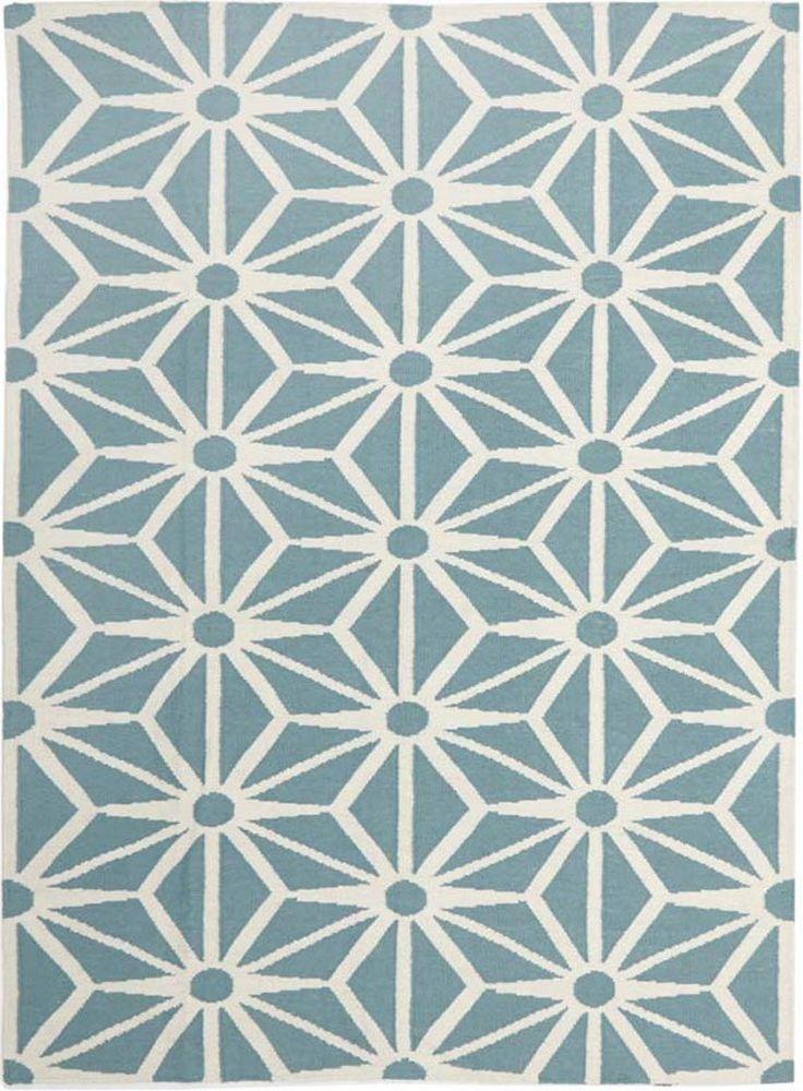 Dandelion Flat Weave Rug Blue