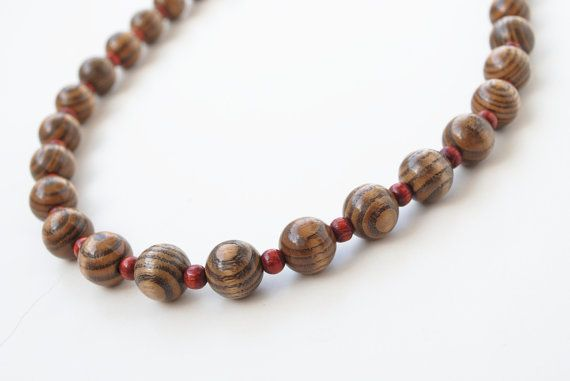 Vintage wooden beads necklace by SoulSisters16 on Etsy