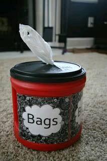 Ideas para guardar bolsas de plastico - Curso de Organizacion del hogar