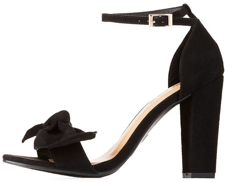Charlotte Russe Bamboo Two-Piece Bow Sandals