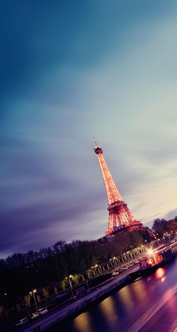 Paris Sunset iPhone wallpaper