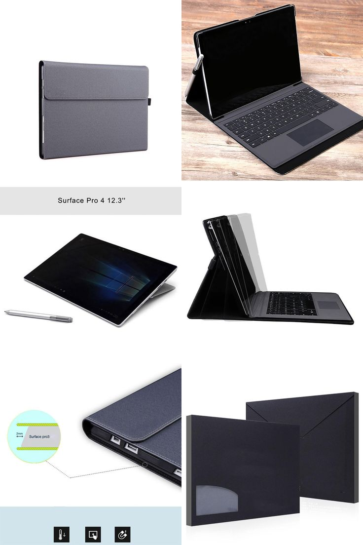 [Visit to Buy] Premium PU Leather Tablet Cover Case For Surface Pro 4 12.3 Folio Stand Cover with Stylus Holder Sleeve For Microsoft Pro 4  #Advertisement