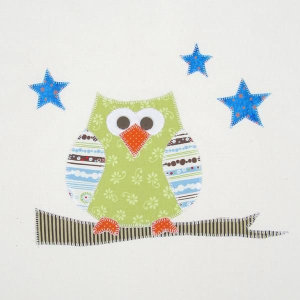 Free Applique Owl Pattern from 5 Sprouts on Craftsy & 132 best No Sew Appliques images on Pinterest | No sew Sconces ... pillowsntoast.com