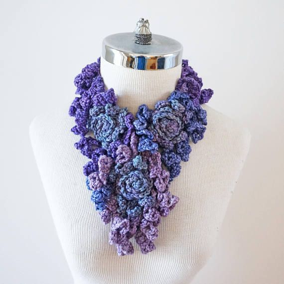 Rose Onie Scarf Abstract Edition various purples rose
