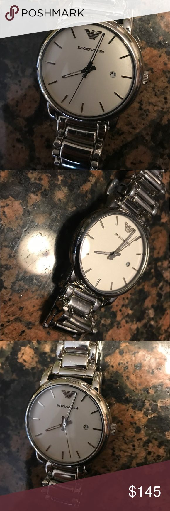 Emporio Armani Watch - Men's This beautiful watch goes with just about anything, lightly worn. Classy and stylish. In great condition! A must have Emporio Armani Accessories Watches
