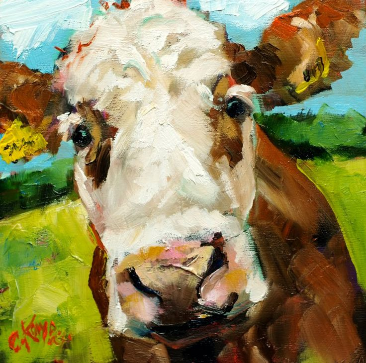 Pastoral Paintings with Cows | Paintings Of Cows Face ...