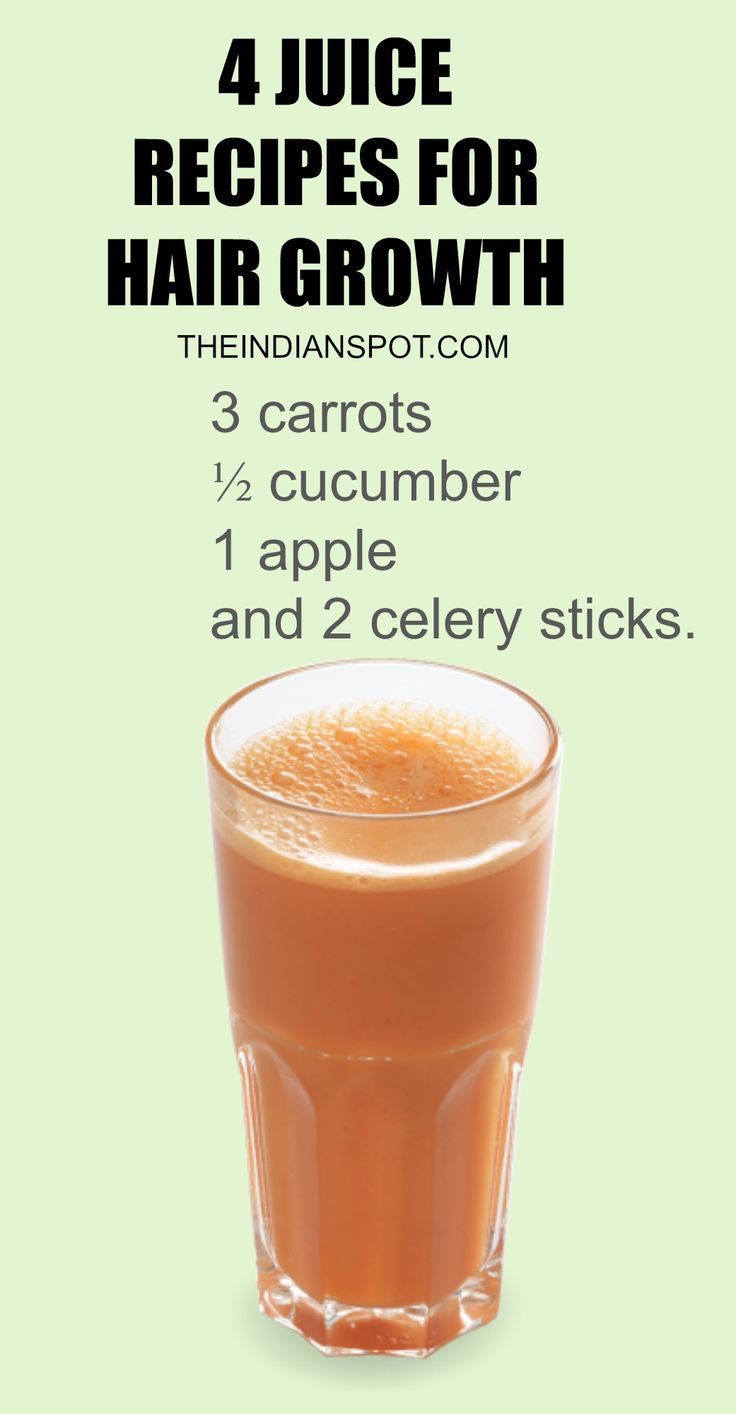4 Juice Recipes for better hair growth