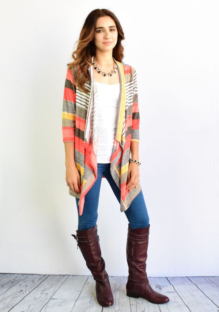 Luxury looking light weight sweater cardigan features fine USA fabric woven  golden shimmer string.