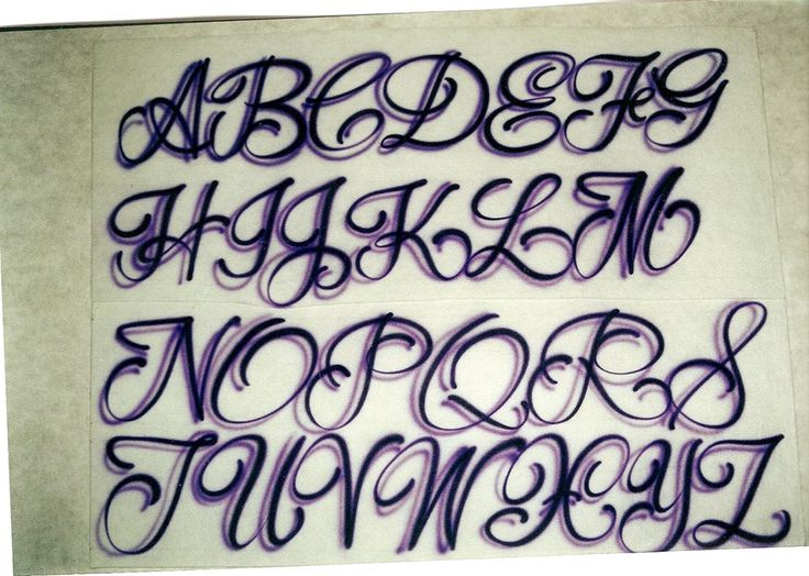 Airbrush Lettering Font - One-Stroke Script Caps