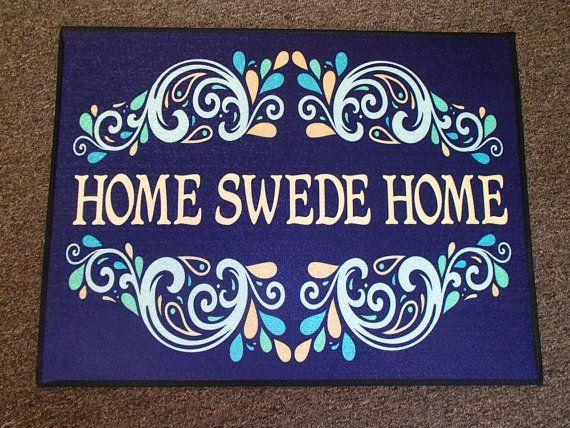Scandinavian Swedish Rug  Door Mat 247 Home by GiftChaletAuburn