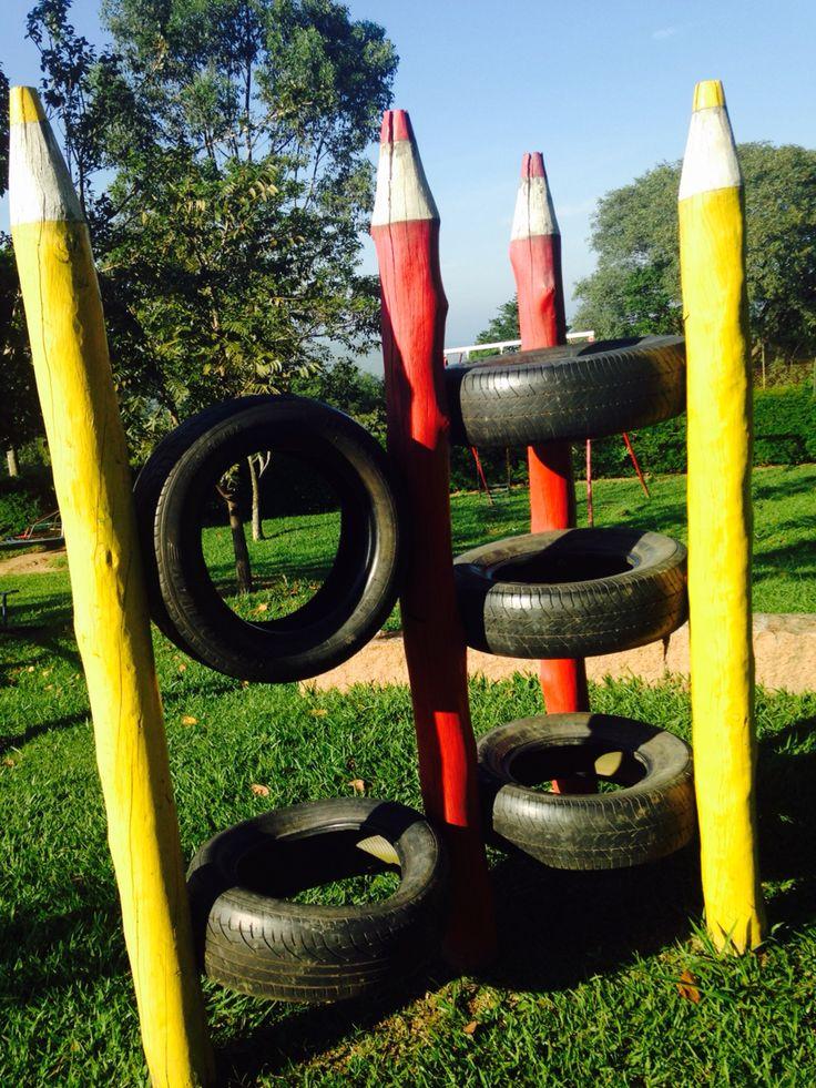 Arte com pneus!