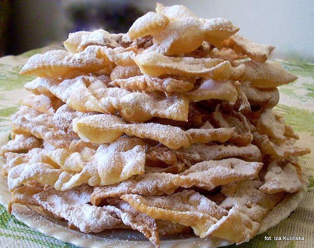 Smaczna Pyza: Faworki domowe bardzo kruche czyli chrust