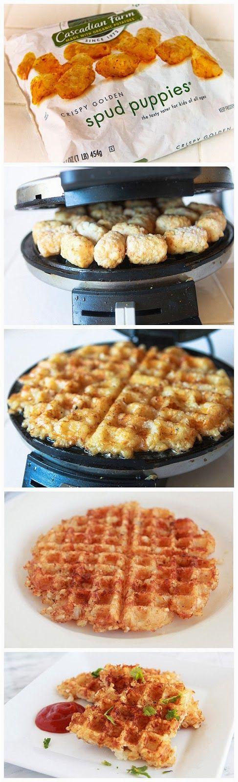 Waffle Iron Hashbrowns ... these just look fun to make ... will see how a Belgian waffle maker performs.