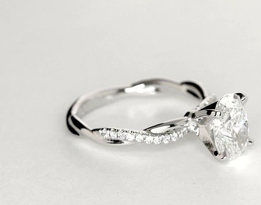 1.5 Carat Diamond Petite Twist Diamond Engagement Ring | Recently Purchased | Blue Nile