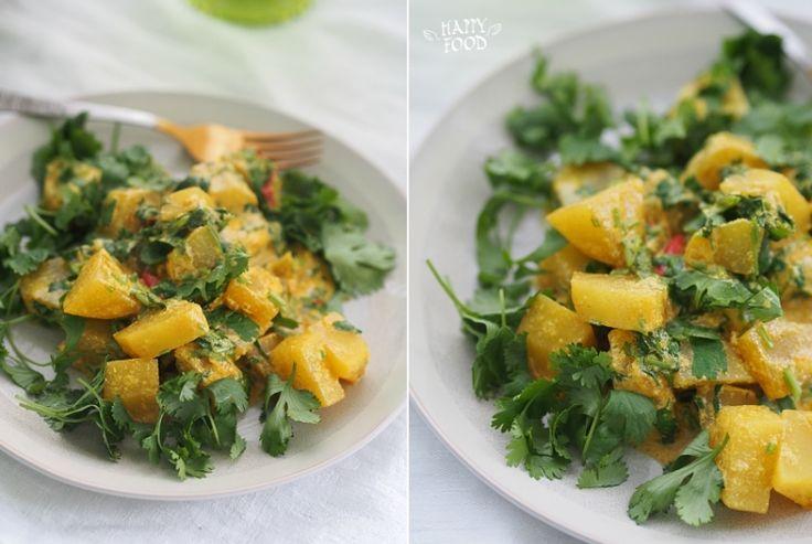 HAPPYFOOD - Картофель в остром сливочном соусе с кинзой (готовлю с посудой iCookTM)
