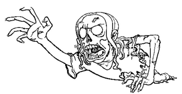 The Scream Of The Zombie Coloring Pages Zombie Coloring
