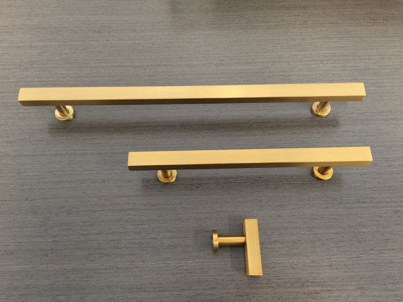 dimensions overall length 112 in 25mm projection 1 kitchen drawer pullsbrass