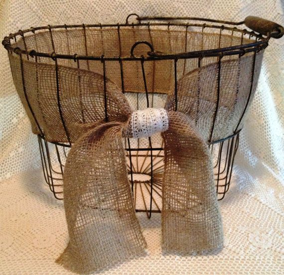 Large Wire Shabby Shic basket. Great for a throw blanket! Callies Cozy Cottage on Etsy. $40.00