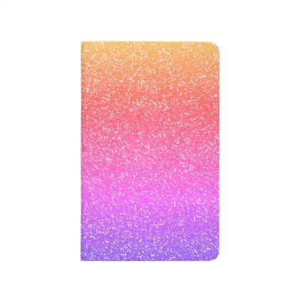 Rainbow Glitter Journal - Gift for Her - diy cyo customize create your own personalize