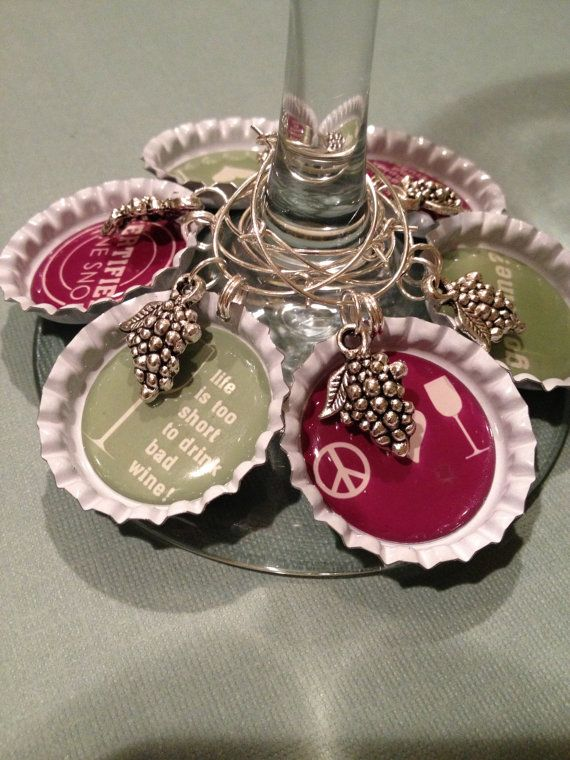 Got Wine Wine Snob Bottle Cap Wine Charms by BottleCapWineCharms, $12.95