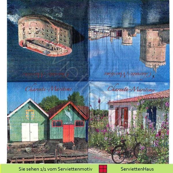 La Rochelle - Fort Boyard Saint- Nicolas - 2 ... von Serviettenhaus auf DaWanda.com