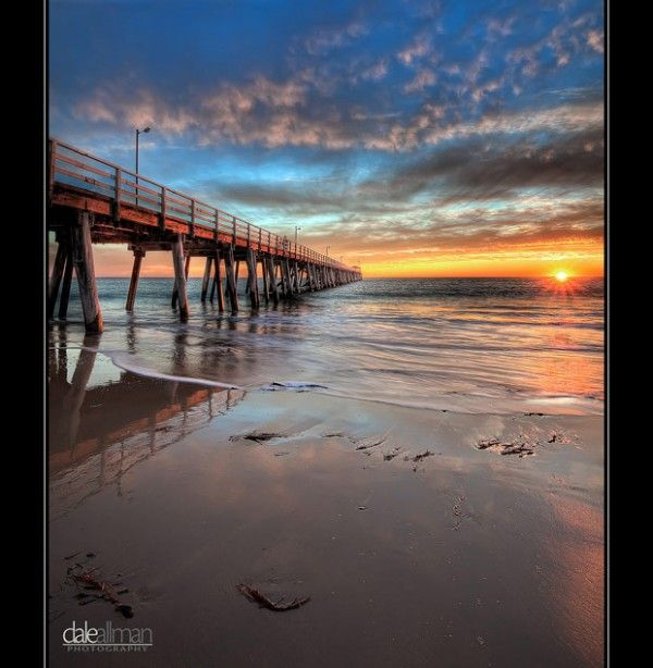 Sunset. Glenelg Jetty. Adelaide, South Australia.