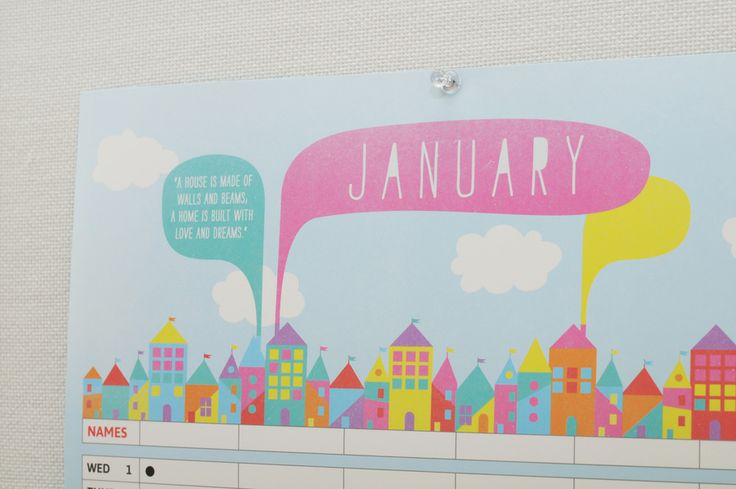 Our 2014 Contemporary Family Organisers feature gorgeous illustrations and inspiring quotes. #Illustration #Inspire