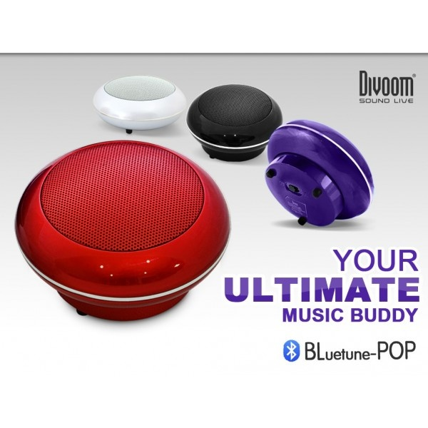 Divoom Bluetune Pop Portable Speaker, 360-Degree Sound, Class D Amp, Up to 5H Playback.