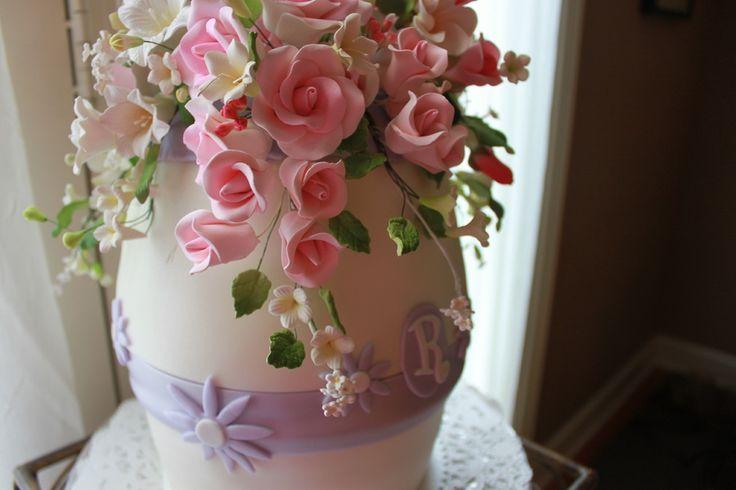 ... cake vase.  Grandmas Birthday Party Ideas  Pinterest  Vase, Flowers