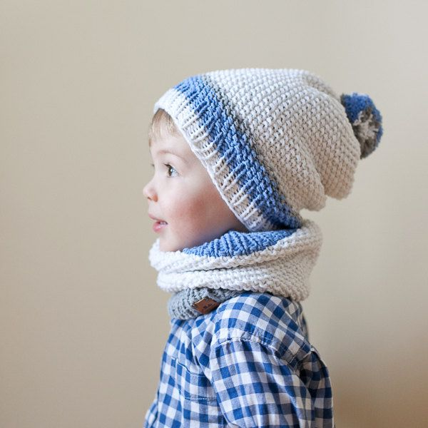 Kid's Knit Hat and Snood Set / Children's Hat and by MrPomPon