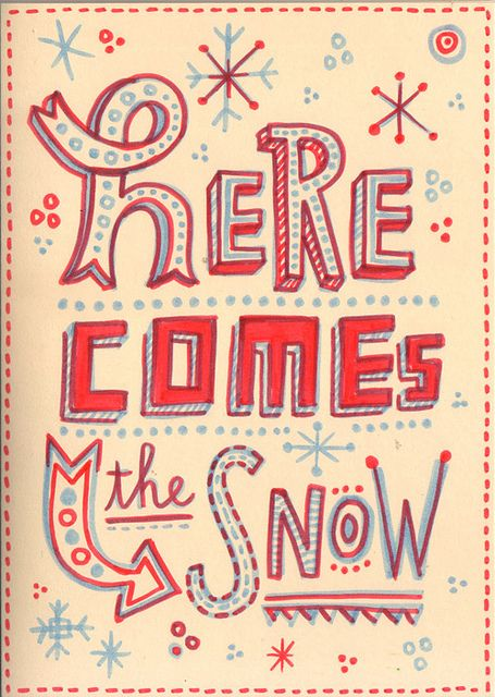 Hand lettered christmas cards by Linzie Hunter