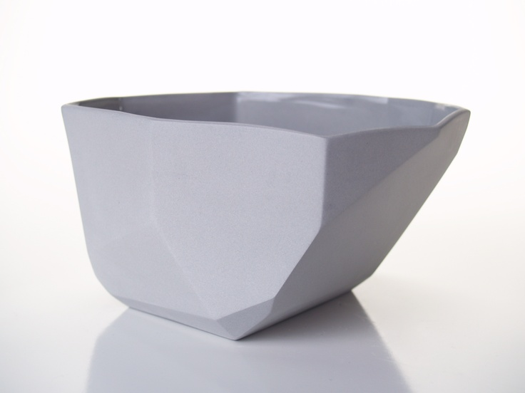 Grey Medium Facet Bowl from GDG Studios www.gdgstudios.com