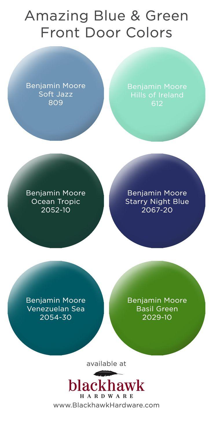 Green front door paint colors - Six Great Blue And Green Door Paint Colors Benjaminmoore