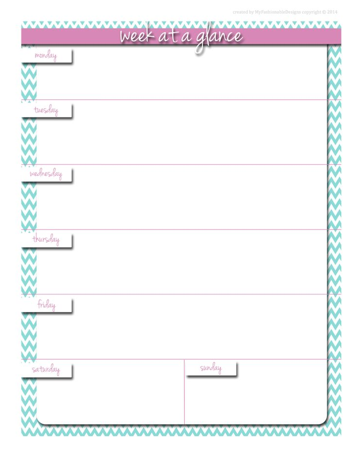 114 best Planner Sheets - Weekly images on Pinterest Free - free printable weekly planner