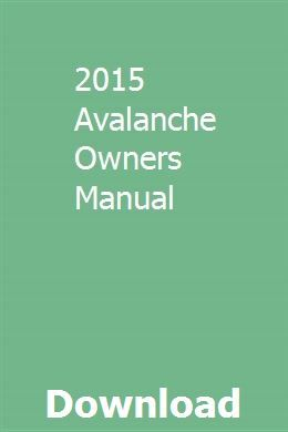 Cable Dahmer Chevy >> 2015 Avalanche Owners Manual Erivlitic 2014 Corvette Chevy