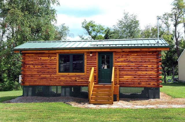This is the 360 sq. ft. Cambridge Log Cabin. It measures 12′ wide and 30′ long…