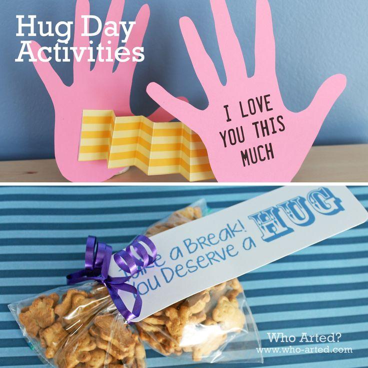 National Hug Day Activities! (National Hug Day is January 21st)