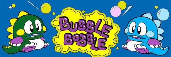 Bubble Bobble Marquee Arcade 12 x 36 Video Game by kitschaus